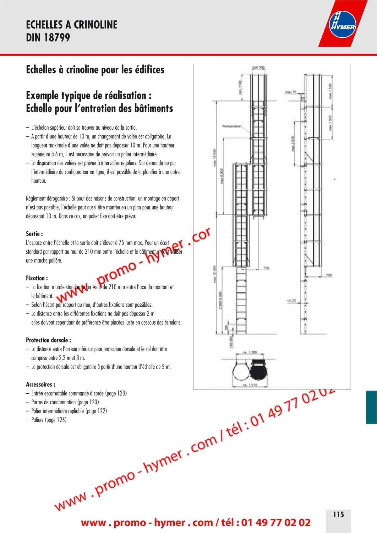 P114 chelle crinoline aluminium avec changement vol e for Hauteur d un radiateur par rapport au sol