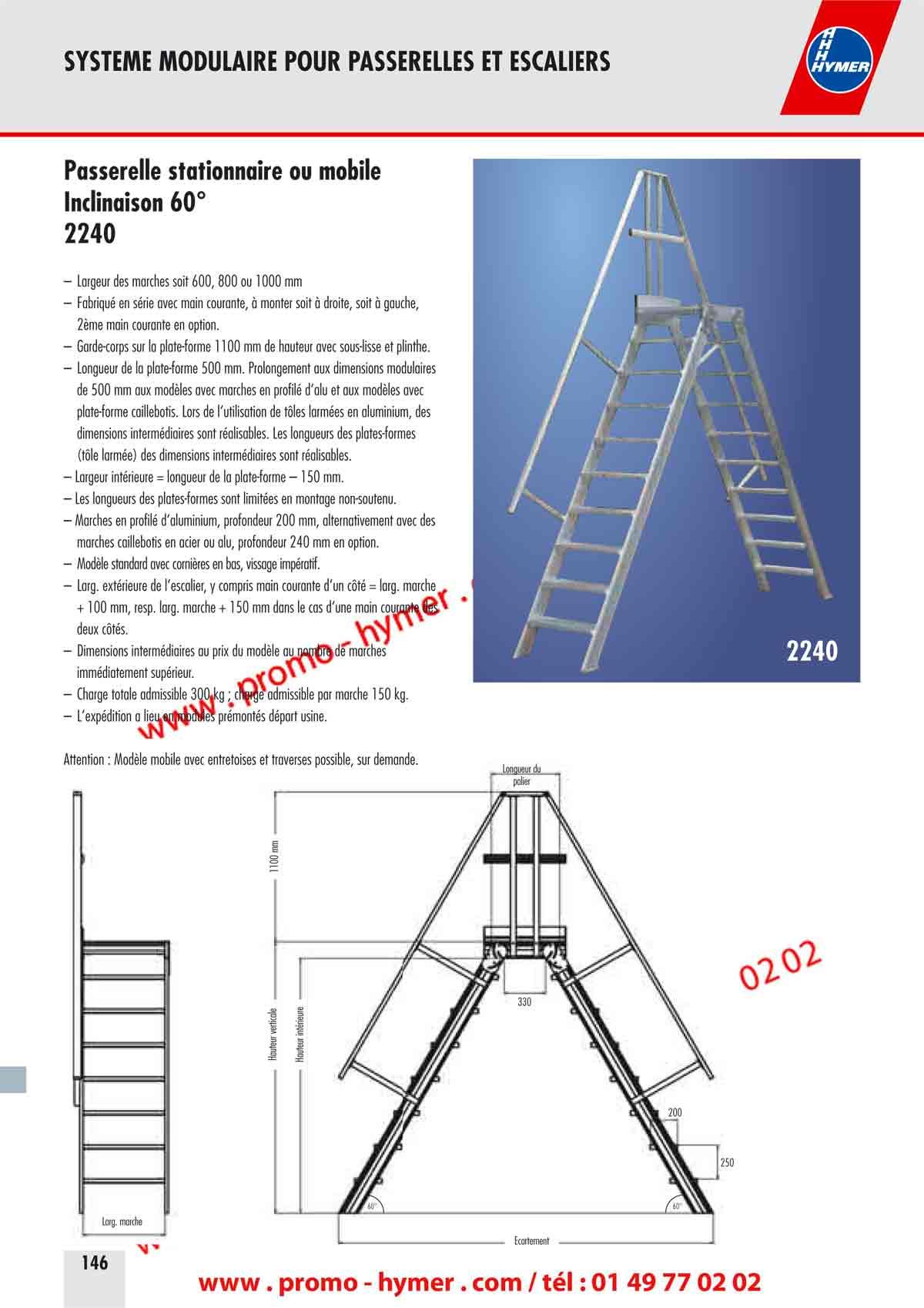 Catalogue hymer tableau prix pour tous chafaudages - Escalier jardin quelles sont les options possibles ...