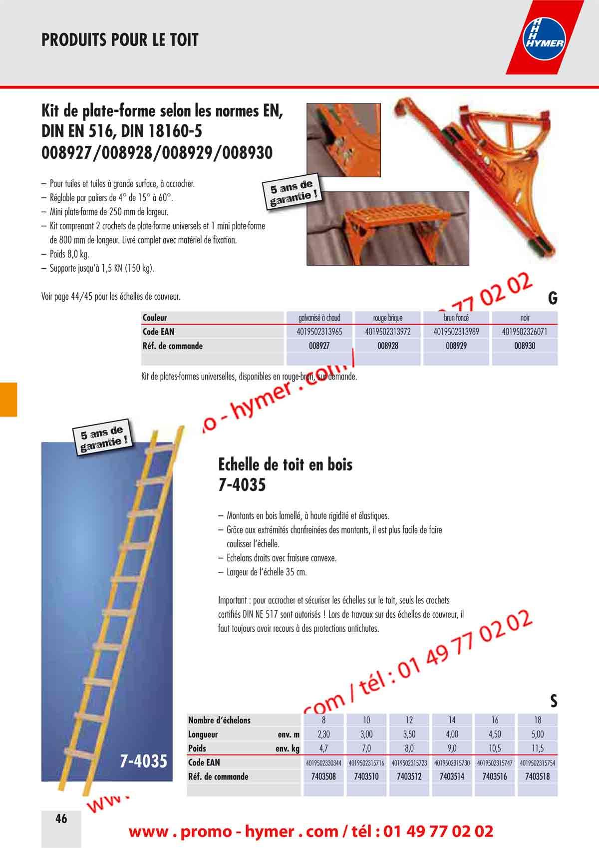 Forme De Toit p46 kit plate-forme de toiture a accrocher catalogue-hymer tableau