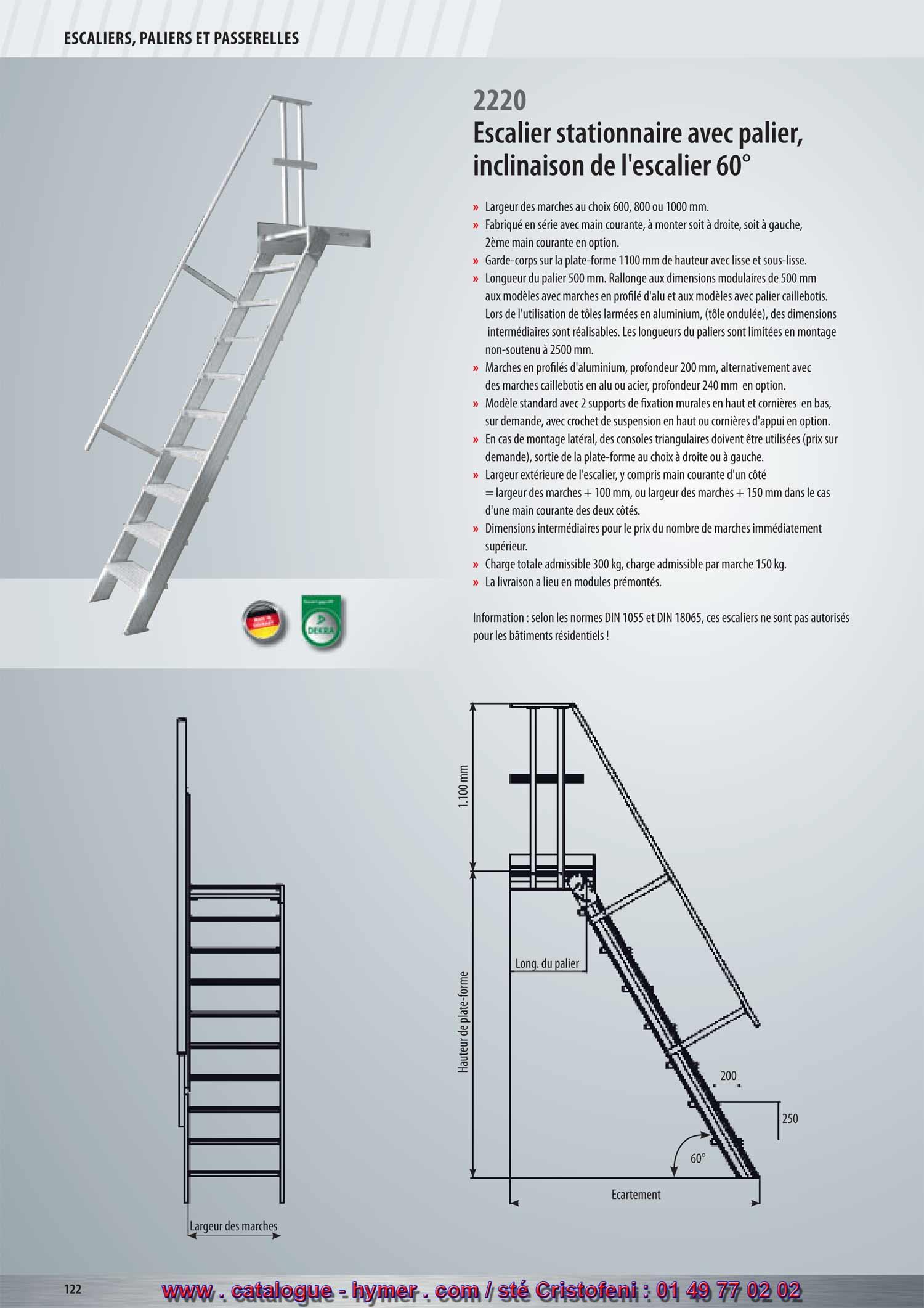 Page 122 p 123 catalogue hymer tableau prix pour tous for Hauteur marche escalier standard