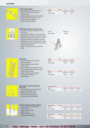 3fbebee216b5 page 138 ACCESSOIRES BEQUILLES DE RALLONGE Béquilles de rallonge pour  échelles à échelons – Pour des